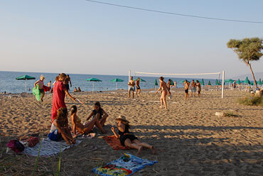 camping in cyprus, beach games