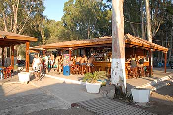 restaurant in cyprus, camping site