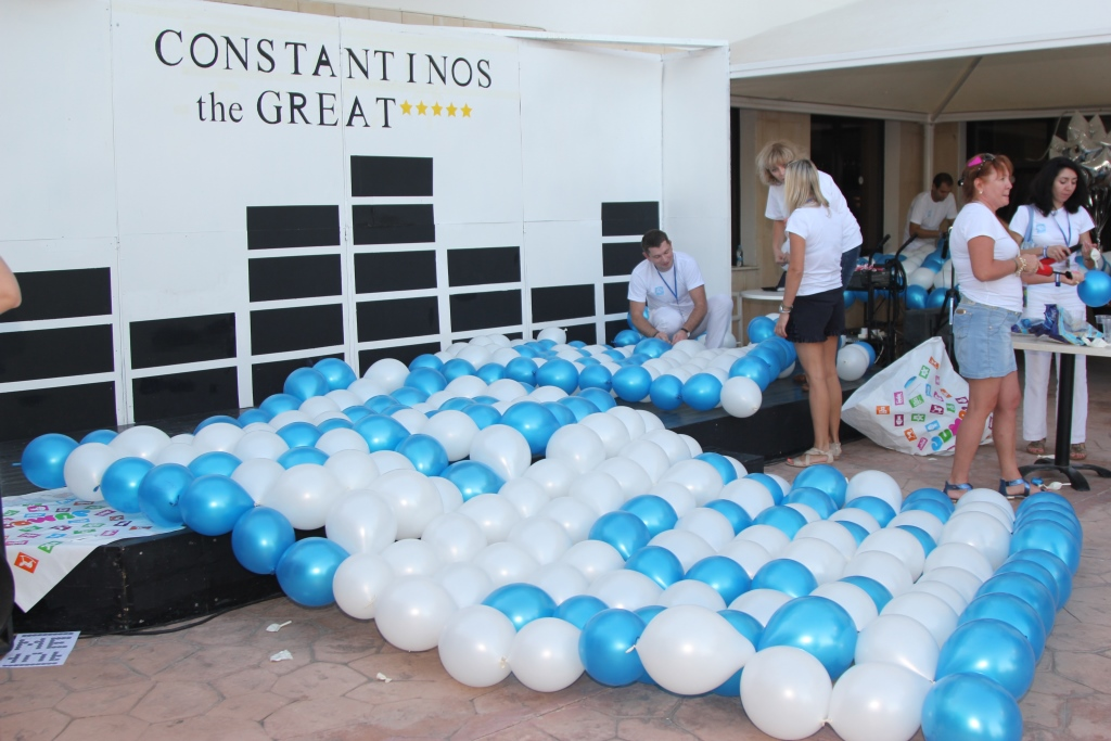 balloon's puzzle teambuilding in Cyprus 2014, www.gts-events.eu