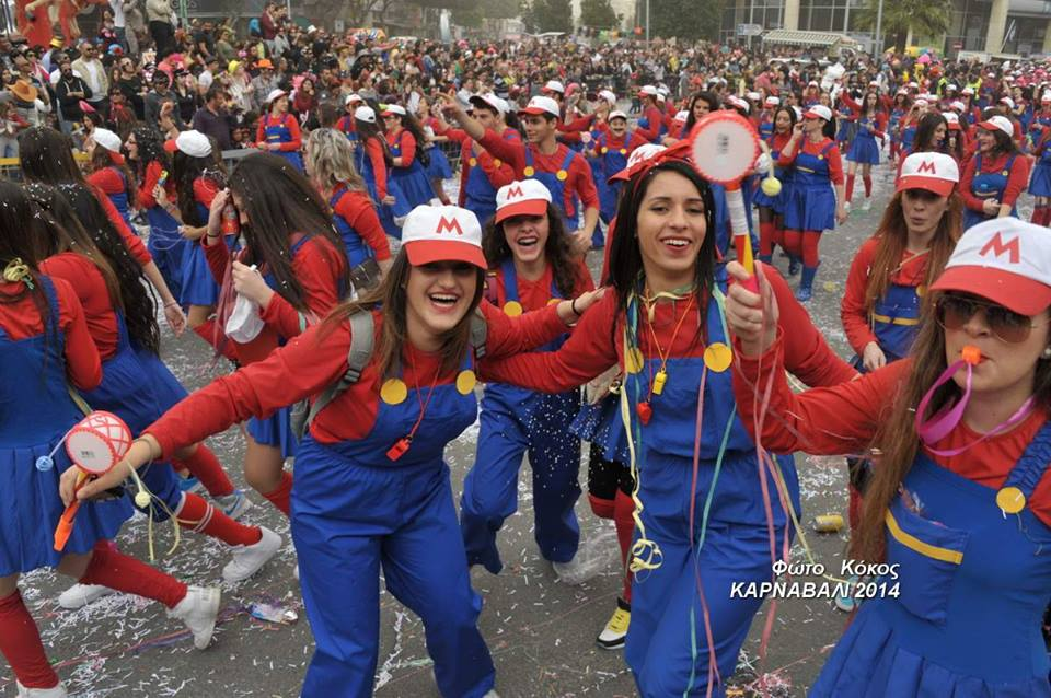 Carnival participants in Cyprus
