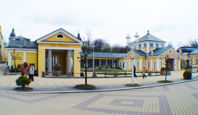 Lazne Lugachovice main square