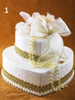 Order a wedding cake in Cyprus, hearts shape